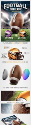 American Football League Flyer Template by saltshaker911