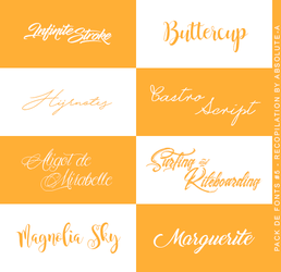 Pack#5 |Fonts| by Absolute-A