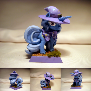 Table-Top Mini: The Great and Powerful Trixie! by NPCtendo