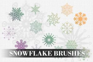 Snowflake brushes by PhotoshopdesaiN