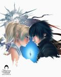 Final Fantasy XV: Lunafreya and Noctis by nime080