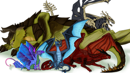 Dragons of Elanthia by SenterVeris