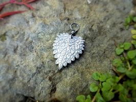 Urtica dioica - Stinging Nettle Heart Pendant by QuintessentialArts