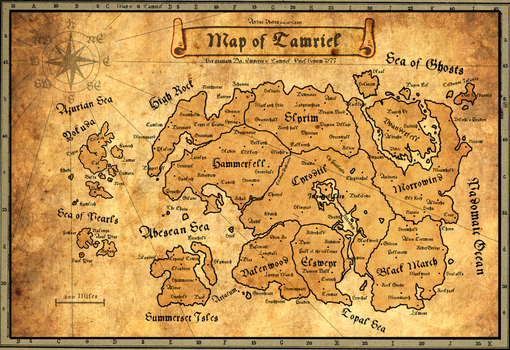Ancient Map of Tamriel by AndrewScrolls