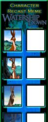 Character Recast Meme Watership Down Series Part 1 by kouliousis