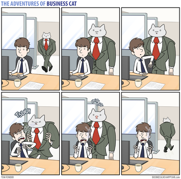 The Adventures of Business Cat - Congestion by tomfonder
