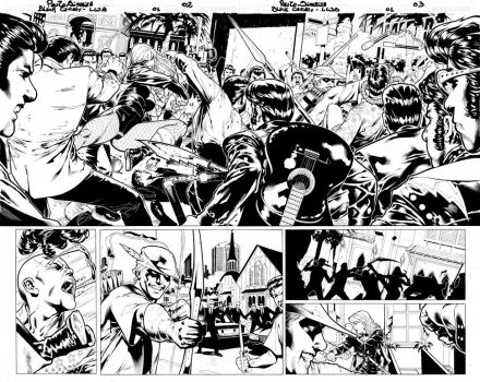 Black Canary double page by PauloSiqueira