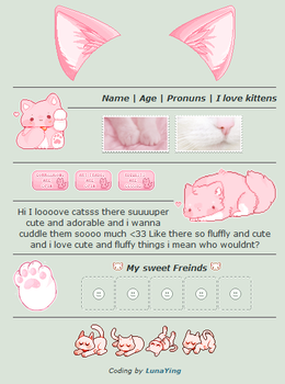 Pink Kitten | Non-Core Page Codes | F2U by LunaYing