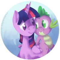 Twilight and Spike by RedInk853