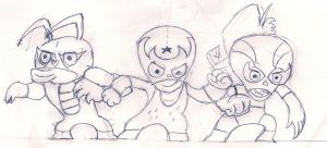 The Three Mascaritas by ZeoLightning