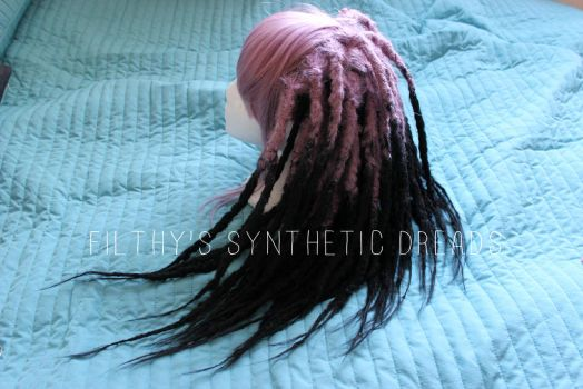 Synthetic dread wig - purple and black 2 by FilthyDreads