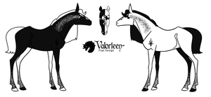 1160 Foal Design - The Black and White Prince by TheBlackAlicorn