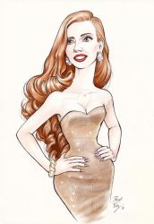 Ginger Glint (Jessica Chastain) by DibuMadHatter