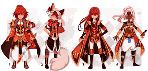 Red collection (SET PRICE) - CLOSED by Melixion