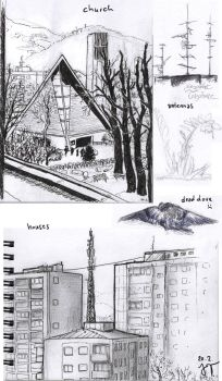 urban sketching 20.2.: public library by light-serpent