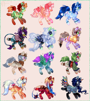 Pony Adopts Batch 12 - 6/12 OPEN by Tea-Adoptables