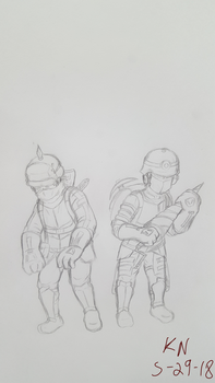 Armored infantry and miner by Eclipse-Being