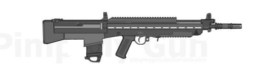 UR-1 weapon concept for game (PMG) by DJGedema
