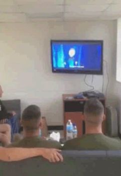 What Marines Do When They Watch Frozen *GIF* by Matchstar