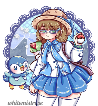 :AT: Trainer Plati would like to Battle! by whitemistrose