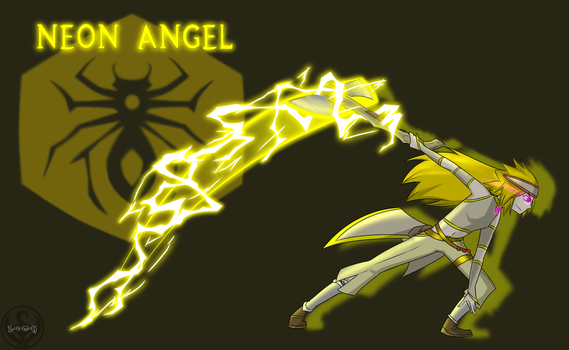 Neon Angel by Lightning-in-my-Hand