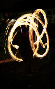 Me spinning fire by AriannaSage