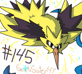 #145 Zapdos by SaintsSister47