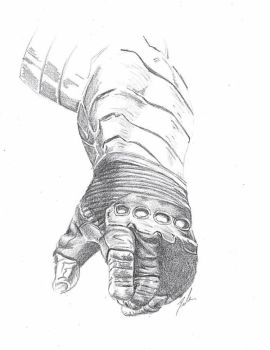 Pencil Winter Soldier Arm by Kyokyogirl