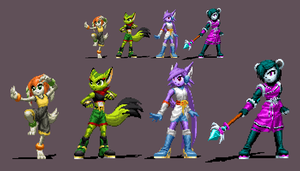 Freedom Planet 2 Stances by DOA687
