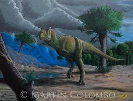 Carnotaurus on the storm by Giganotosaur