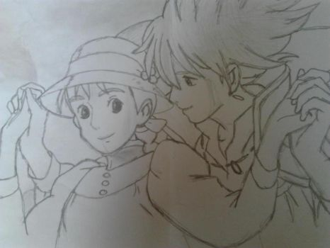 Sophie and Howl (Howl's Moving Castle) by MercyHearts