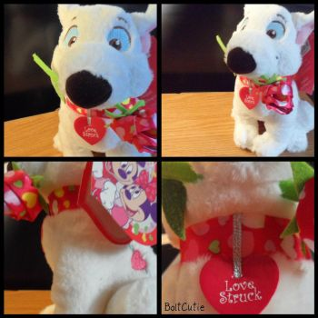 Valentines day Bolt plush by BoltCutie