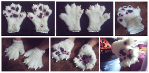 Husky handpaws - For Sale: $75 shipped by lilyote