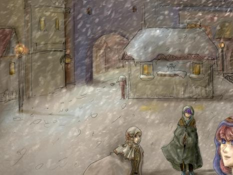 snow town by Shilphe