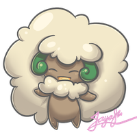 PokeSticker #1 - Whimsicott by miririri