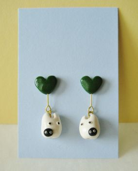 White totoro and soot sprite earrings by Sirix14