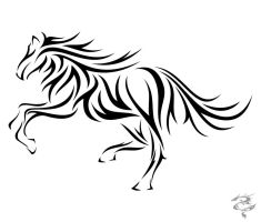 Chinese Zodiac Tattoo Horse by visuallyours
