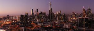 Panorama: Melbourne Sunset by MD81