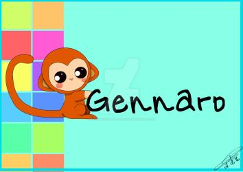 Gennaro - Baby poster by MademoiselleRougeArt