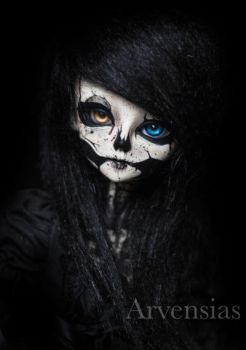 BJD Skull faceup by Arvensias