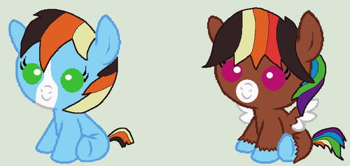 Rainbow X Troubleshoes for Shadowrosa6 by Strawberry-T-Pony