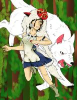 Princess Mononoke San the Wolf Child by toriegarcia89
