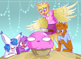 Collab: glitterzegoof by OliveCow