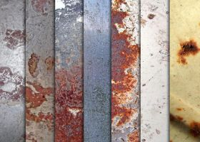 Various Rusted Metal Textures by sdwhaven