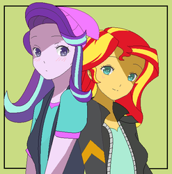 EQG Starlight Glimmer and Sunset Shimmer BFF by kasumaky