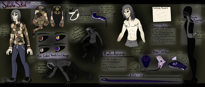 [O.C. ReferenceSheet] SnakeSkin by RoneOmbre
