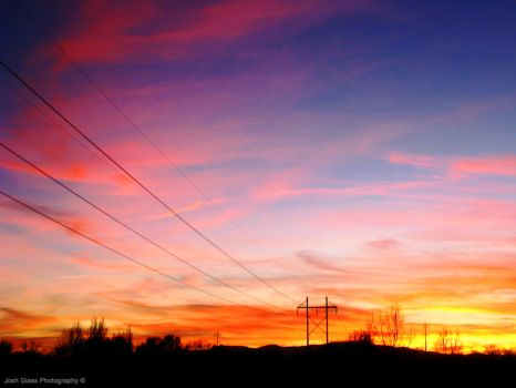 Powerline Sunset by jawshoewhah