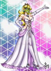 She Masked Princess Peach - Wedding Dress V1 by Yoshi9288