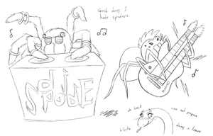 concert spiders sketch by VickyViolet