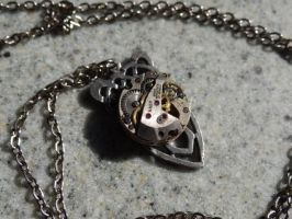 Steampunk celtic knot necklace by Hiddendemon-666
